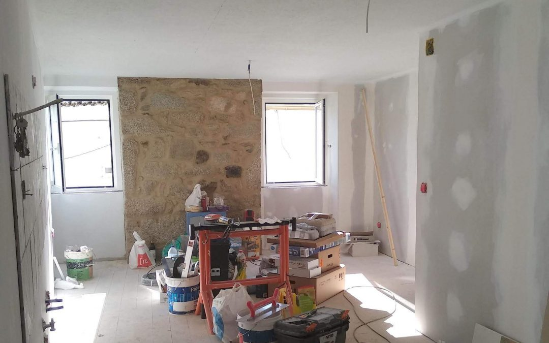 A casa aguarda a pintura